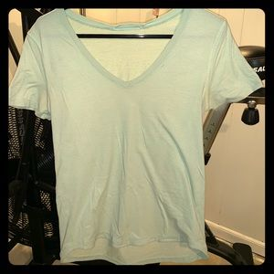 Teal women's lululemon T-shirt